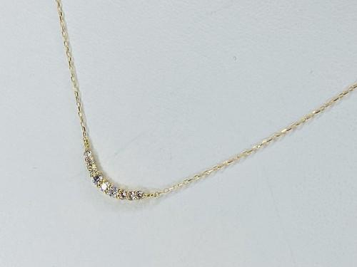 K18 D0.1ct ダイヤモンドネックレス ●