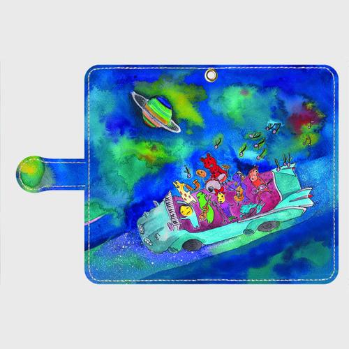 【M】キャバデラックス宇宙の旅/手帳型スマホケースiPhone5/5s/6/6s/7/SE/X/XS/、AndroidMサイズ