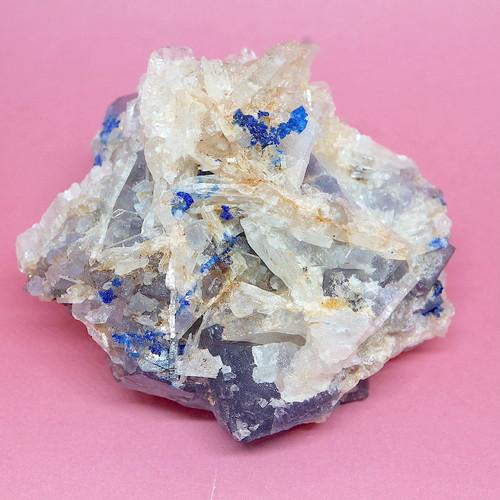 レア!フローライト + リナライト+ バライト 蛍石 原石 131g  FL171 鉱物 天然石 パワーストーン
