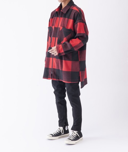 Wool Check Blouson (B3702-73)