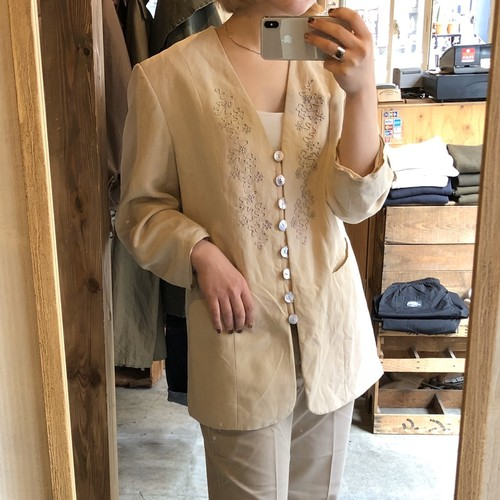 vintage open coller jacket