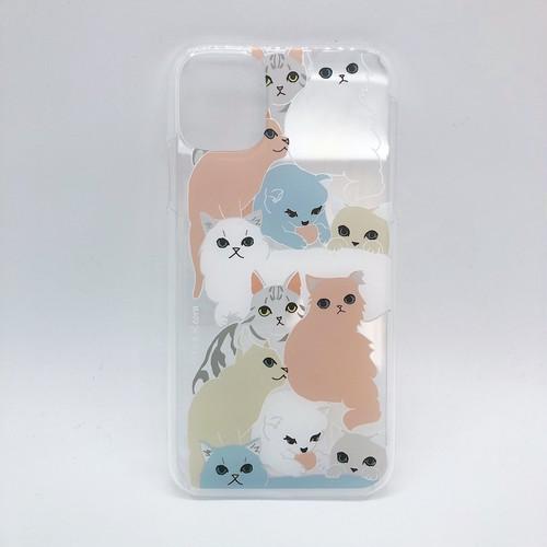 【iPhone11 専用】アクリルiPhoneケース INDOOR CATS