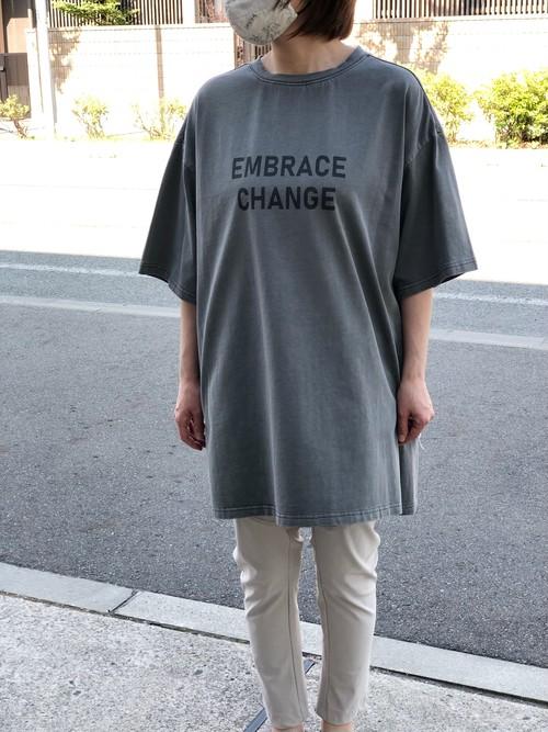 Dignite Collier/802313/後染めTシャツ(チャコール)
