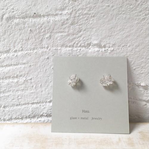 【Hau.】glass×silver pierce(silver925ポスト)