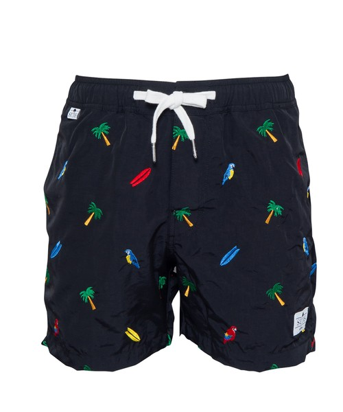 SUNS EMBROIDERY SWIM SHORTS[RSW019]