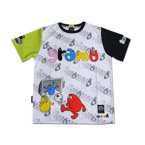 BARBAPAPA×gramo コラボ プラシャツ「pass」(ブラック×イエロー/P-028) ※S~Lサイズ