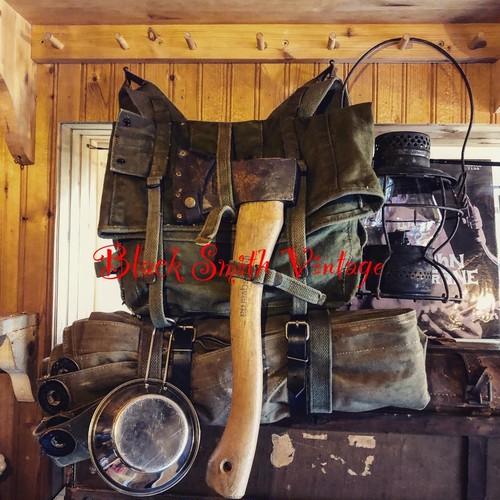 軍実物 放出品 ミリタリー ビンテージ サバゲー コンバット バックパック フィールド メインパック リュック アウトドア キャンプ 登山 コットンキャンバス素材 40's 50's 60's WWⅡ激レア
