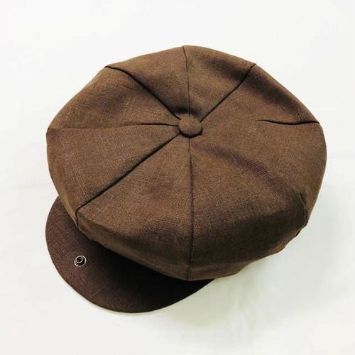 Irish Linen 8Panel Casquette  Brown