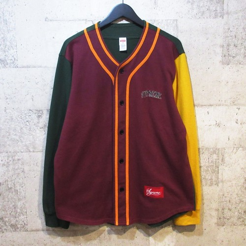 SUPREME 18AW Color Blocked Baseball Top