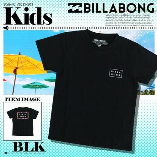 AI015-203 ビラボン キッズ Tシャツ 人気ブランド かっこいい ロゴ プリント 通販 夏 海 半袖 黒 子供 男の子 リゾート プレゼント 130 140 BILLABONG