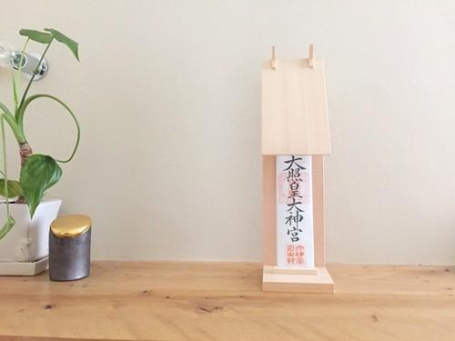 木曽檜のスマートなモダン神棚 【白木仕上げ】