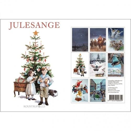 グリーティングカード 8種 封筒付き KOUSTRUP & CO. - Danish Christmas Songs デンマークのクリスマスソング