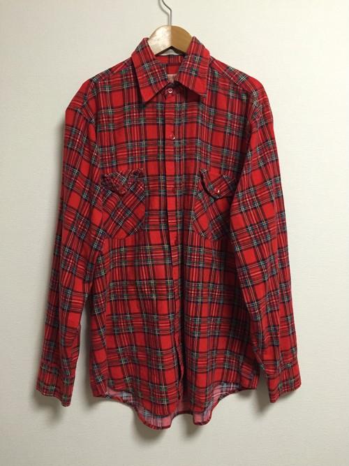70's print flannel shirt