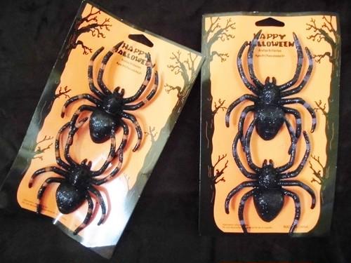 インテリア蜘蛛(橙/紫)
