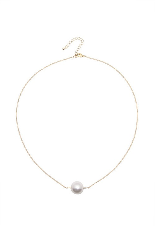 Pipe Pearl Necklace | GOLD