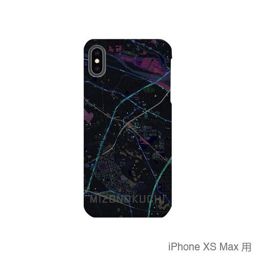 【溝の口】地図柄iPhoneケース(バックカバータイプ・ブラック)
