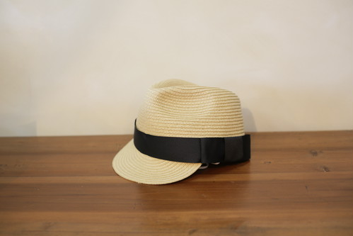 chocolatesoup(チョコレートスープ)PAPER BRAID JOCKY HAT / black / S・M