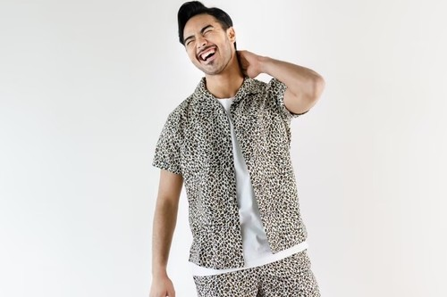 ThreeArrows Leopard S/S SHIRT (beige)