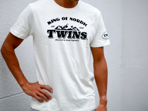 TWINS Cotton T-shirt 胸プリント