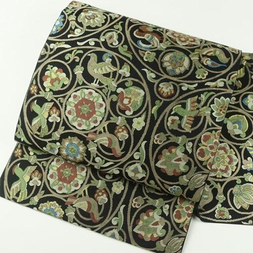 エキゾチック文様 正絹袋帯【1644】