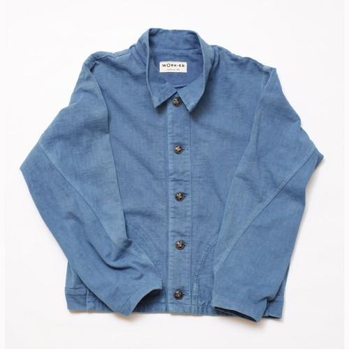 WORK-ER パッチジャケット(ライトブルー/藍染)