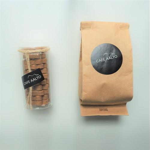 CAFE AALTO スペシャルティコーヒー(100g)& カルダモンとシナモンのクッキー