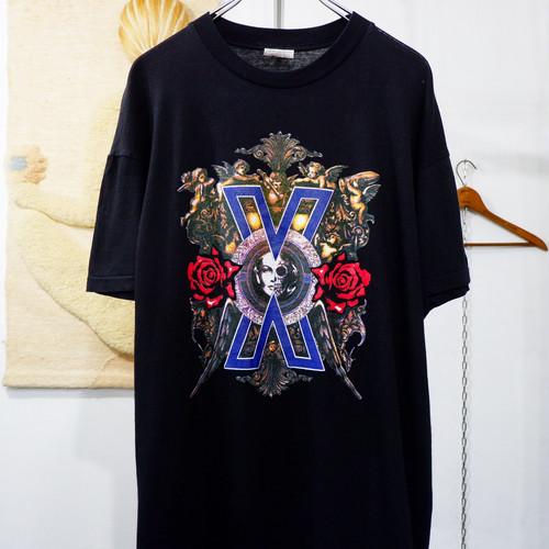 "1991s vintage ""X JAPAN"" Violence In Jealousy ツアー Tシャツ"