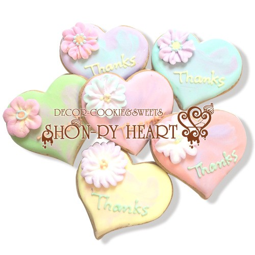 【期間限定セール290円】マーブルハートのアイシングクッキー SHON-PY HEART 結婚式プチギフト