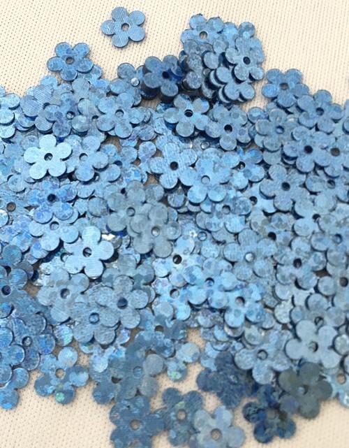 スパンコールパパティア(花びら5枚) 6mm  ブルー]