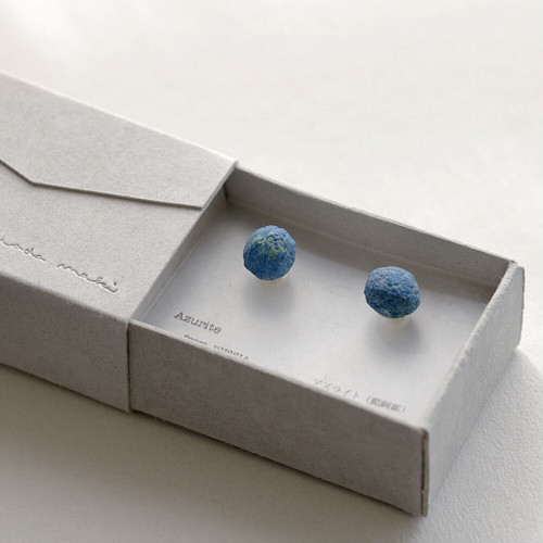 Stone Letter / pierce - アズライト