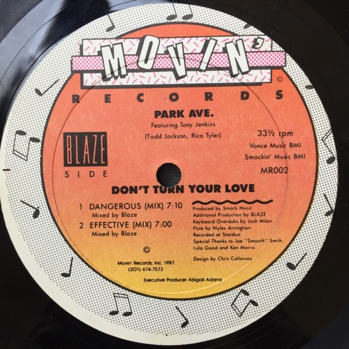 Park Ave. Featuring Tony Jenkins ‎– Don't Turn Your Love