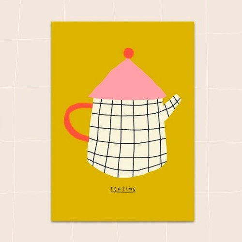 "Jennifer Bouron ""Tea time"" Postcard"