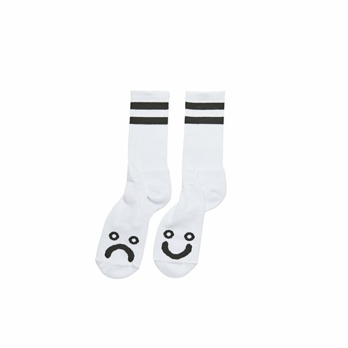 POLAR SKATE CO (ポーラー) / HAPPY SAD SOCKS -WHITE-