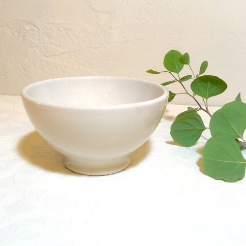 "50's Vintage ""Richard Ginori"" White Cafe Bowl [CCV-9]"