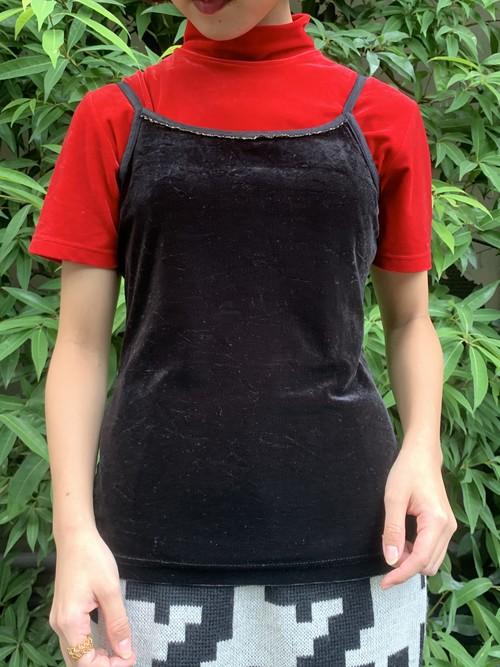 (TOYO) design velours camisole