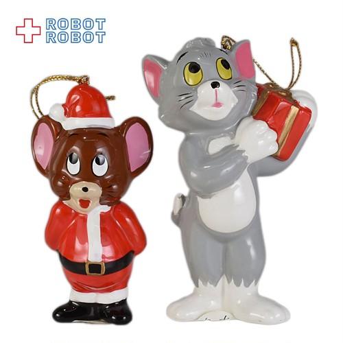 トム&ジェリー 陶器製クリスマス・オーナメント ペア 箱入