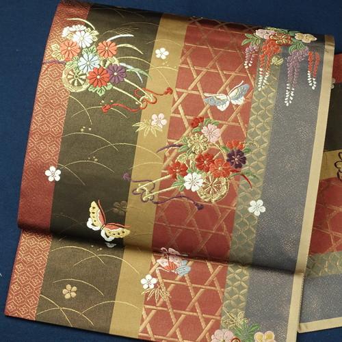 花車 正絹袋帯【1160】