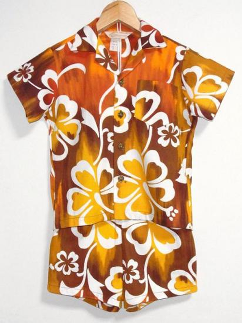 1970's DEADSTOCK ROYAL HAWAIIAN Kidsセットアップアロハ
