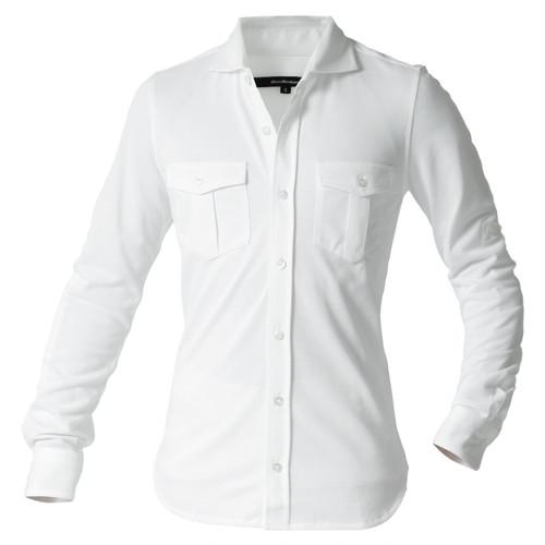 DJS-001 decollouomo メンズパイロットシャツ長袖 concorde - ピュアホワイト