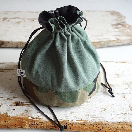 """DRAWSTRING BAG"" US Fatigue×Woodland"