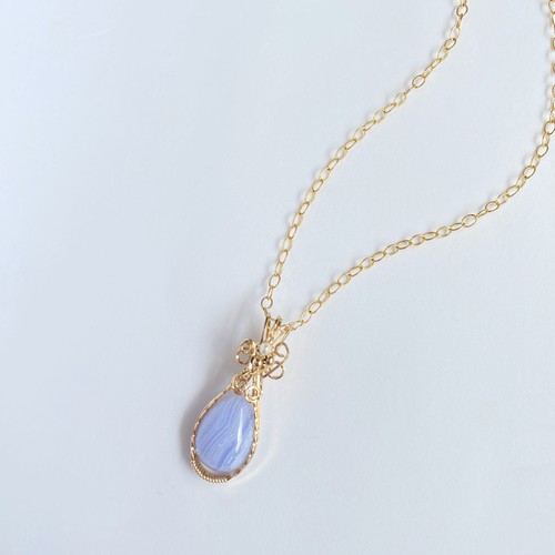 Blue lace agate Wire jewelry