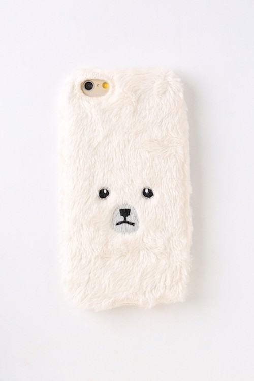 【KEORA KEORA】くまiPhone6/6sカバー(ホワイト)