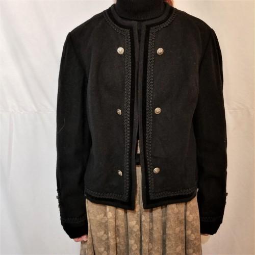 Wool no-collar jacket [IK-25]