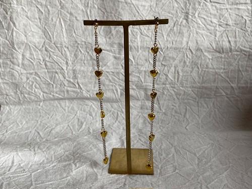heart chain pierce/earrings