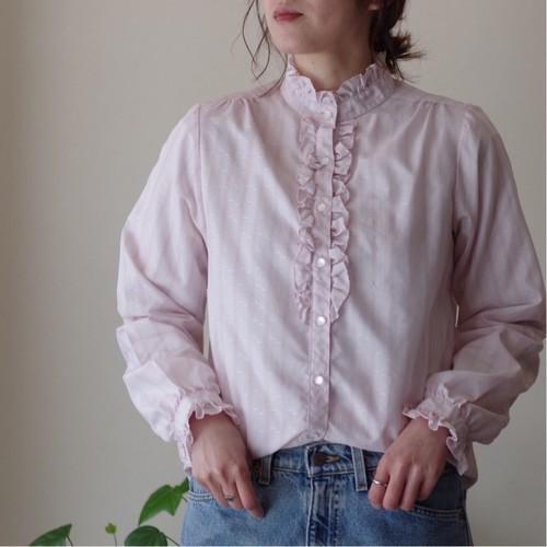 スタンドカラー フリルシャツ