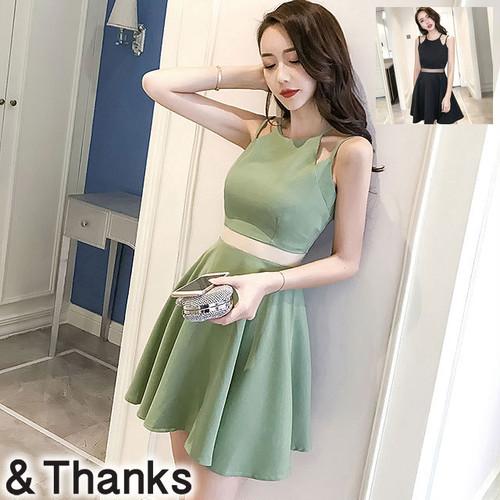 ドレス特集 ノースリーブハイウエストドレス 1カラー 2サイズ