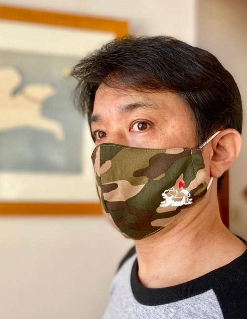 【デザインを選んで作れる】カモフラージュマスク