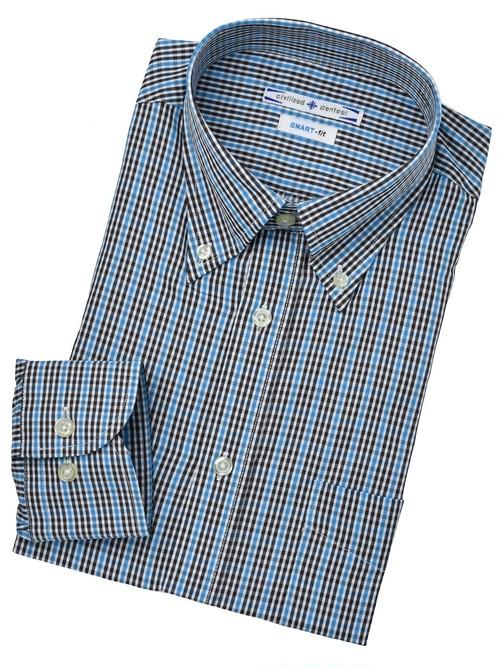 BDブルーチェックシャツ M179B