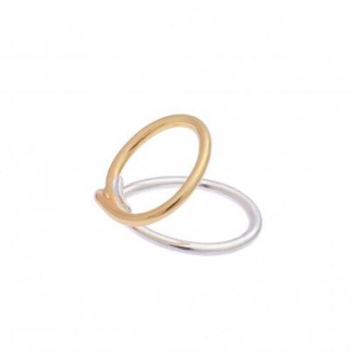 Sea'ds mara/シーズマーラ Overlap brass ring  21A2-39