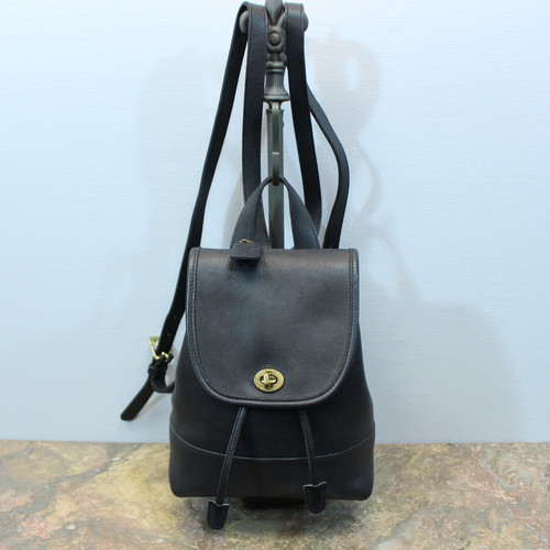 .OLD COACH TURN LOCK LEATHER RUCK SUCK MADE IN COSTA RICA/オールドコーチターンロックレザーリュックサック 2000000031545